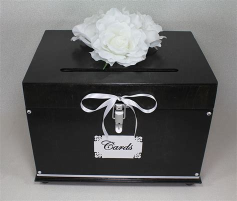 card box white wooden wedding card box trunk brown