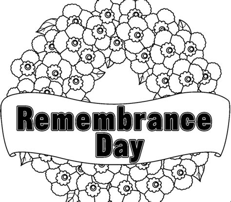 coloring pages for remembrance day free coloring pages of remembrance day wreath