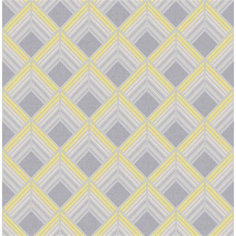 yellow and grey wallpaper next boutique wallpaper trifina geo yellow at wilko com