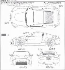 nissan blueprints nissan 350z 07 export ver free textures and blueprints