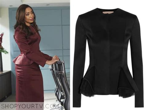 From Suits Wardrobe by Suits Season 5 Episode 3 S Burgundy Peplum Top