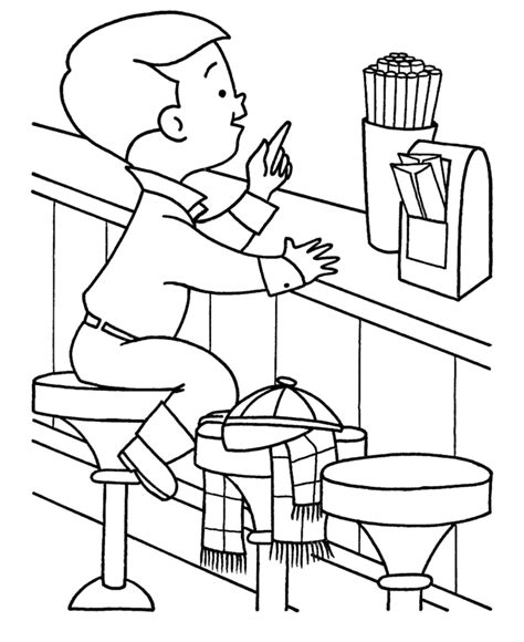 christmas shopping coloring pages kids christmas