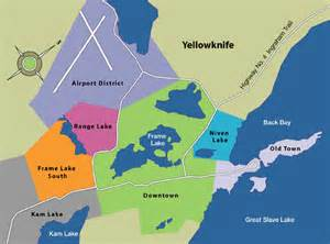 Yellowknife Canada Map by Maps Visit Yellowknife