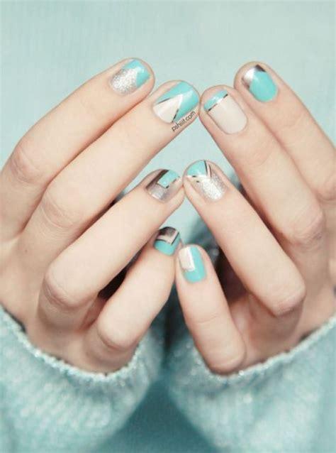 imagenes de uñas decoradas verde agua u 241 as cortas naturales color azul u 241 as pinterest u 241 as