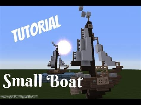 minecraft grian boat minecraft lets build tutorial small boat ship youtube