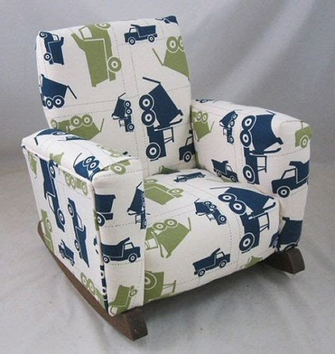 childrens upholstered chair new childrens upholstered rocking chair trucks toddle rock