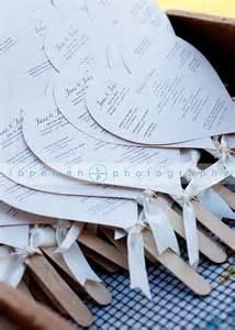 Fan Shaped Wedding Programs Creative Lab Press Getting With The Program