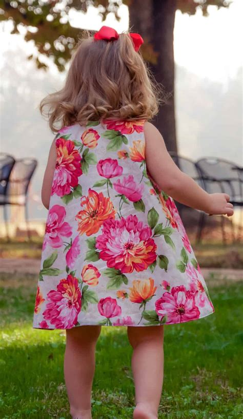 girls knot dress sewing pattern and a line top shirt reversible a line dress sewing pattern sizes newborn to 12