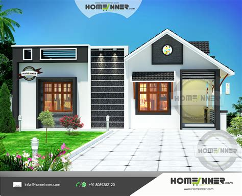 2 Bedroom House Plans Indian Style by Attractive 800 Sq Ft Kerala House Plans Designs