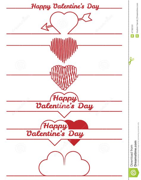 7 Plans For The Valentines Day by Valentines Day Design Elements Dividers Stock Vector