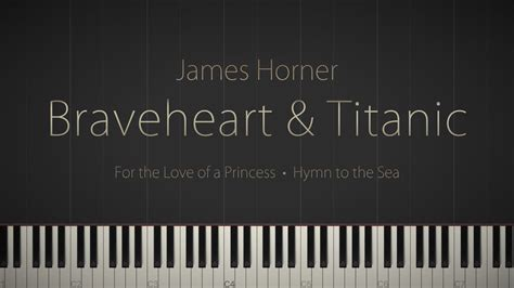 tutorial piano braveheart braveheart titanic piano suite a james horner tribute