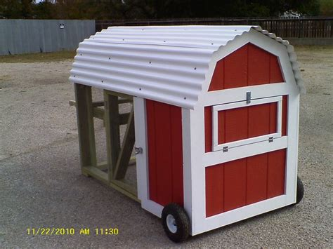 Mobile Chicken Shed by Mobile Chicken Coops With An Oink Oink Here