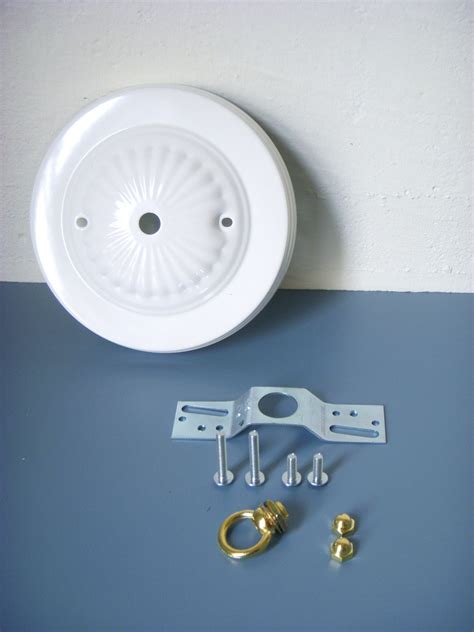 Mounting A Light Fixture Diy Decorative Bright White Embossed Ceiling Canopy Plate
