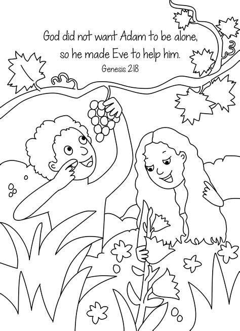 bible key point coloring page adam and eve online