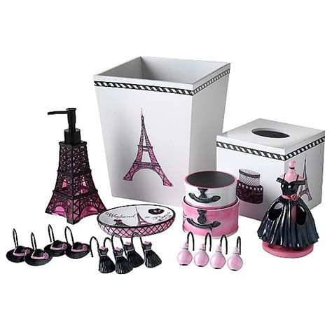 girly bathroom decor pink bling bathroom accessories