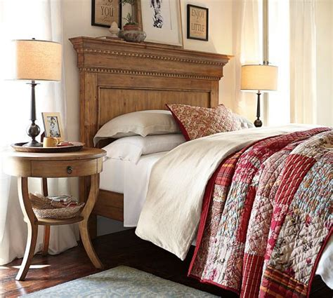 pottery barn king bed pottery barn addison headboard in pine finish full and