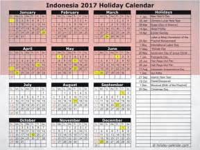 Calendar 2018 With Holidays Indonesia Indonesia 2017 2018 Calendar