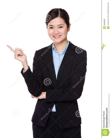 What Will Show Up On A Fingerprint Background Check Businesswoman With Finger Show Up Stock Photo Image