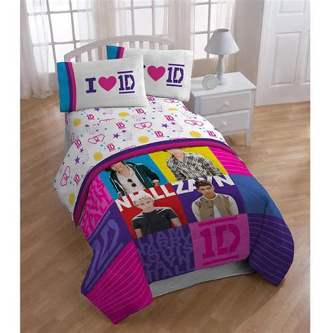 one direction bedding one direction patchwork twin bed sheet set walmart com