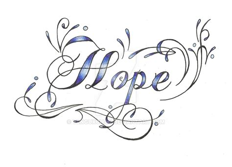 the word hope tattoo designs cm by tenguxchan on deviantart