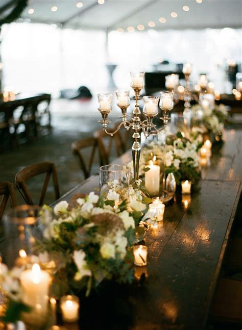 wedding table centerpieces pictures 4 winter wedding by sweetgrass social clayton farm