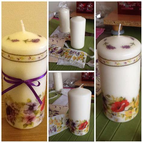 decoupage candele candle decoupage diy 2 candles decoupage