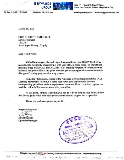 application letter sle for ojt criminology application letter for criminology ojt 28 images ojt
