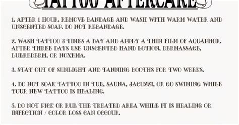 tattoo removal aftercare instructions aftercare free pictures