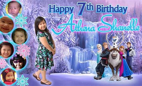 frozen wallpaper for tarpaulin 7th birthday frozen themed tarpaulin partyforum events