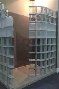 modern glass block shower system introduced at columbus glass block bathroom design ideas glass block wall decor