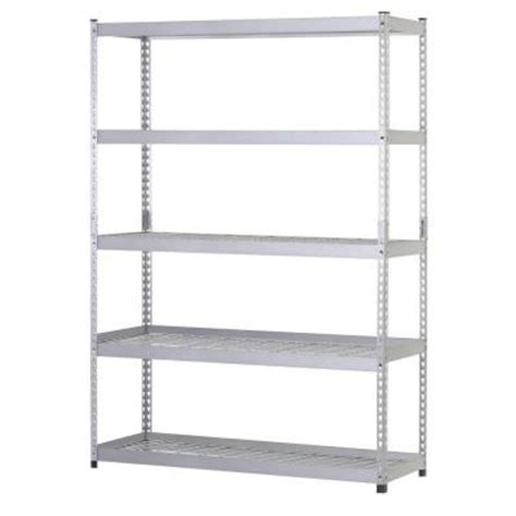 home depot metal shelves husky 48 in w x 24 in d x 78 in h steel 5 shelf