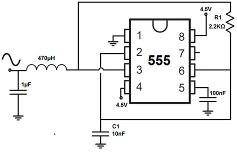 sine wave generator circuit with a 555 timer random