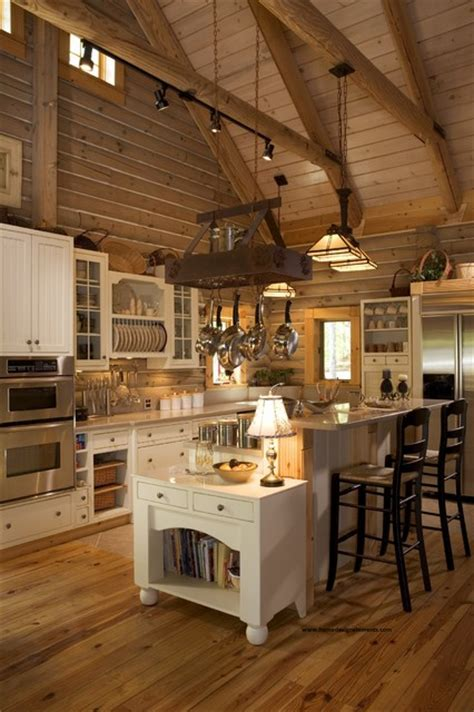 and peaceful log home kitchen design log home
