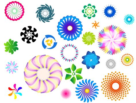 svg pattern rotate colorful rotating pattern vector free vector 4vector