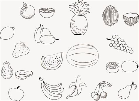 fruits printable coloring pages az coloring pages