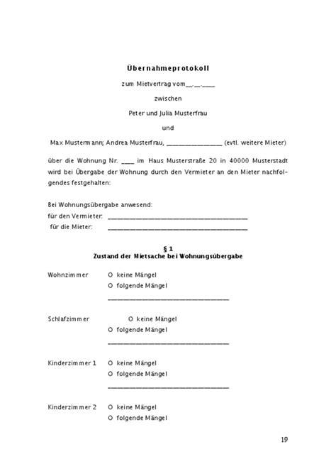 mustermietvertrag wohnung mietvertrag wohnung muster zum