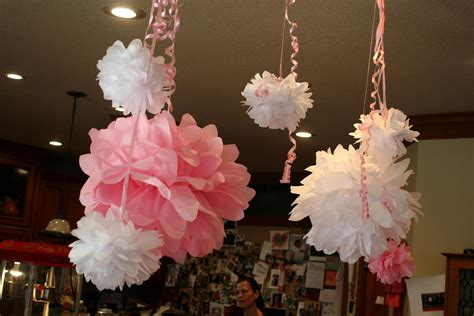 pom pom baby shower about to pop easy baby shower ideas on my side of