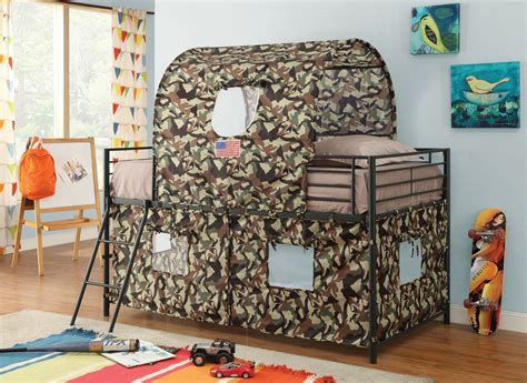 Camo Bunk Bed Camouflage Bunk Bed With Camouflage Fabric From Coaster 460331 Coleman Furniture