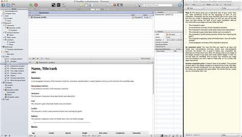 snowflake method template scrivener snowflake layout w quickreference scrivener