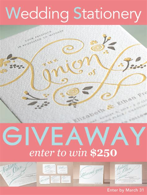 Wedding Belles Giveaway by Introducing Minted Letterpress Invitations Giveaway