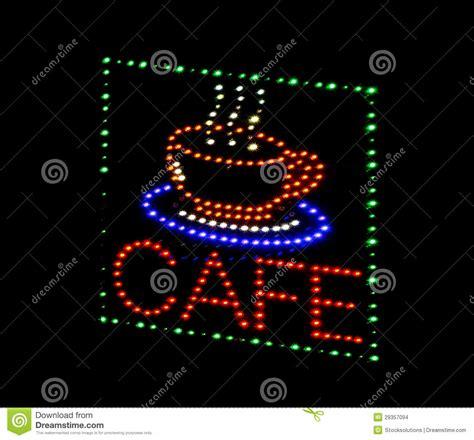 diode sign cafe light emitting diode sign stock images image 29357094
