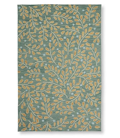 llbean home rugs easy care hooked twig rug