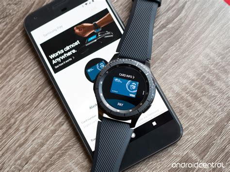 how to use samsung pay on the gear s3 without a samsung phone android central