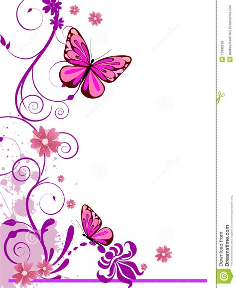design flower and butterfly floral design stock illustration illustration of leaf