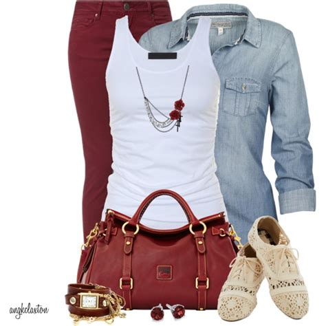 Nir Blus Casual Maroon quot maroon and white and lace quot by angkclaxton on polyvore on the polyvores clothes