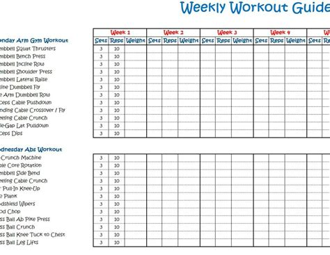 Workout Schedule Templates pin workout schedule template on
