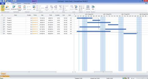 Microsoft Gantt Chart Template by Gantt Chart Templates