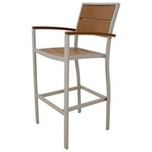 Trex Outdoor Bar Stools by Trex Outdoor Furniture Surf City Textured Silver Patio Bar