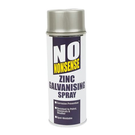 spray paint zinc no nonsense zinc galvanising spray paint silver 400ml ebay