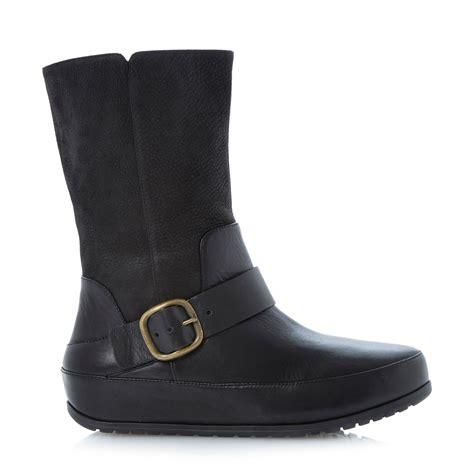 fit flop black leather boots